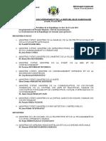 Gouvernement Gabon Août 2017