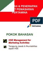 Kebijakan & Penerapan HSE Pertamina Pemasaran