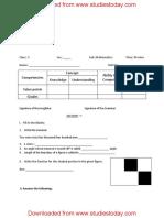 CBSE Class 5 Mathematics Sample Paper Set I