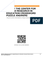ID6701136fb-1993 by the center for applied research in education crossword puzzle answers