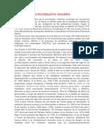 La Reconquista Resumen
