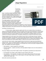 An Introduction to Voltage Regulators