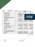 Bio Herbal Bank Statement 068-69 n 69-70 Projected