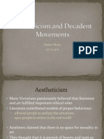 Aestheticism and decadent movements