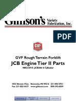 JCB 444 GVF Forklift TierII Engine Parts