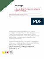 Historia botaniki w Polsce