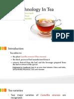 Biotechnology in Tea