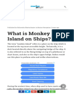 What is a Monkey Island on Ships