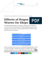 Effects of Rogue Waves on Ships
