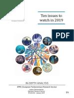 Diez temas para estar atentos en 2019 (UE)