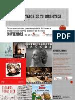 Los + de la Biblioteca Pública de Segovia (noviembre de 2018)
