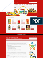 Online Grocery Ordering System Screens