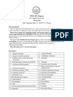 PHY 103 Student Papers Spring 2019