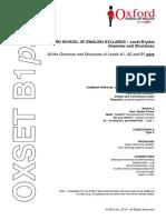 OXSET B1plus - Grammar and Structures