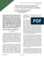 Glutathione-Rich Nano Fertilizer Improved Parameters of Sweet Corn under Salinity Condition