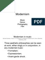 Modernism in Music