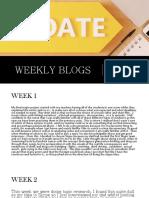 weekly blogs