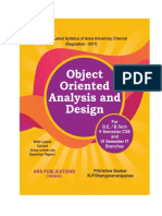 Object Oriented Analysis and Design for R-2017 by Krishna Sankar P., Shangaranarayanee N.P.