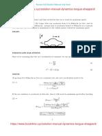 Solution Manual for Dynamics Engineering Mechanics 2nd Ed - Benson Tongue, Sheri Sheppard
