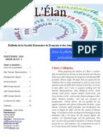 Bulletin de La Société Honoraire de Français Et Des Jeunes Amis Du Français