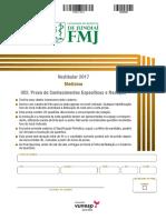 FMJ_2017_Conhecimentos Específicos e Redação