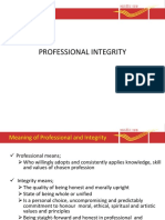02 PPTprofessional Integrity 1