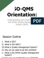 ISO QMS Orientation