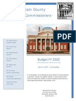 Effingham County Ga., budget Fiscal Year 2020, first draft