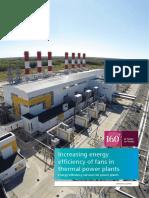 Increasing Energy Efficiency of Fans in Thermal Energy Plants