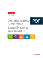 Comptia Pentest Exam Objectives (2 0)
