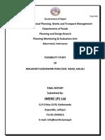Feasibility Study of Biplyate-Maipokhari-Sandakpur Road (Final report).docx