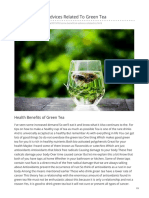 Some Beneficial Advices Related to Green Tea