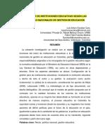 Artículo 2. El Rector de Instituciones Educativas Según Las Politicas Nacionales de Gestion en Educacion