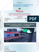 Density Based Traffic Control Signal With Emergeny Override