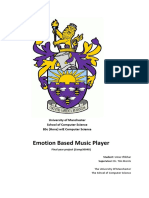 Emotion Based Music Player (Manchester Univ)