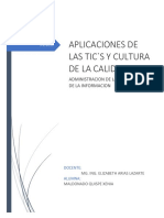 Aplicaciones de Las Las TICS Cultura de La Calidad 1