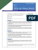CEPPE N7 Cambios Al Curriculum Escolar 1990 2014 Institucionalidad y Desafios