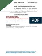 Especificaciones Instalaciones Sanitarias