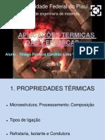 Slide Ceramica Aplicações Termicas - THIAGO FINALIZADO