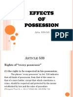 Effects of Possession (Arts. 539-545)