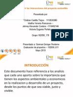 interacciones proyectos sostenibles
