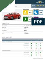 Euroncap 2019 Audi e Tron Datasheet