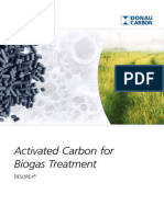 Activated carbon for biogas treatment