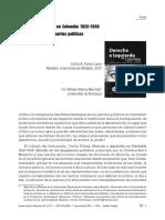 Derecha e Izquierda en Colombia 1920-1936