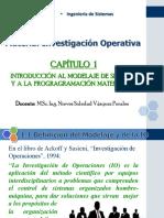 Investigación Operativa i - Capítulo 1