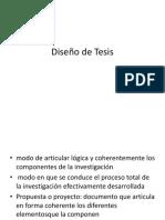 Diseño de Tesis y Objetivos
