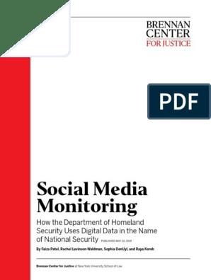 Social Media Monitoring   U S  Customs And Border Protection