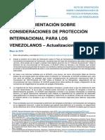 Venezuela Nota de Orientacion Consideraciones de Proteccion Internacional Para Venezonalos ACNUR (1)