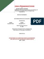 Pharmacy Management Synopsis