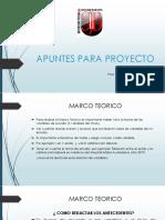 Apuntes Para Proyecto